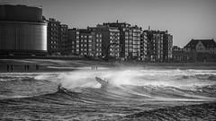 Into Ostend surf - 7 B&W (Drummerdelight) Tags: ostende ostend blackwhite surfers blackandwhite