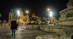 2469  Detalle del monumento a Colón, Barcelona (Ricard Gabarrús) Tags: nocturna calle paseo monumento arquitectura barcelona olympus ricardgabarrus ricgaba