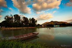 大生圍 (猫之瑪姫) Tags: 大生圍 landscape nikon countryside hongkong boat reflection taisangwai sunlight 魚塘 元朗 fishpond yuenlong