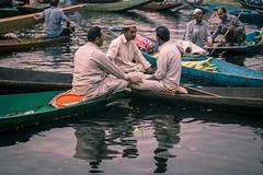 'Three's a crowd' (Roney Mathew) Tags: travel streetstories streetphotography lake market floatingmarket kashmir dal