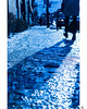 Shadow on ice. (Mao_Design) Tags: shadow onice ice icey firstsnow coldday winterishere winter hiver blue mood coldtones cracks trottoir sidewalk frozen ruebernard mileend sonycam sonyalpha sonya6000 montreal mtl mtligers instamtl streetphoto