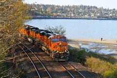 Seattle, Washington (UW1983) Tags: trains railroads bnsf scenicsub stacktrains intermodaltrains carkeekpark seattle washington