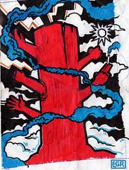 Sketch-Red-Tree (AntGioStudios) Tags: enniogallorondati antgiostudios illustrazione illustration graphicart artegrafica color colored colorato albero alberorosso redwood sketch schizzo mani hands fumoazzurro