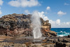Nakalele Blowhole (sierrasylvan) Tags: adobelightroomcc2015 adobebridgecc2017 adobe adobephotoshopcc2017 canonefs1585mmf3556isusmlens canon canoneos50d hoyahdcircularpolarizingfilter hoya filter ocean pacificocean maui mauicounty nakaleleblowhole blue autumn black bluff clouds water spout spray coast gray hiking landscape nature orange outdoor red rock volcanicrock seastacks seaside shore sky tropical white