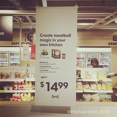 sign at IKEA... when it comes right down to it, don't we all want to create meatball magic in our own kitchens? #ikea #meatballmagic #slapme #thisislife (MichaelKohn_TO) Tags: sign ikea when it comes right down dont we all want create meatball magic our own kitchens meatballmagic slapme thisislife