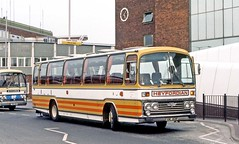Heyfordian, Upper Heyford: XWL801R in Heathrow Airport Central (Mega Anorak) Tags: bus coach aec reliance 6u2r plaxton heyfordian upperheyford heathrowairport