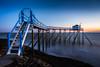 DSC_0658-2 (Desmo.fr) Tags: carrelet sea seaside fishing dock royan sunset longexposure stair piloti cabane charentemaritime blue bluehour nikon 20mm afd d600