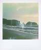 ... (Maggie J Lee) Tags: california marin headlands rodeobeach coast northerncalifornia winter surf sand sea ocean waves polaroid sx70 polaroidoriginals600 landcamera