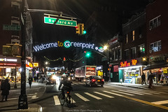 Welcome to Greenpoint (jomak14) Tags: brooklyn christmasinnyc christmaslights greenpoint streetphotography iphone6plus peopleonthestreet