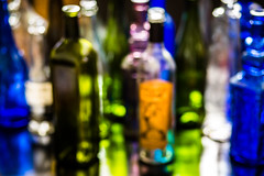 bottle blur (auntneecey) Tags: bottles blur colorful 365the2017edition 3652017 day364365 30dec17