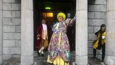 """He's behind you!"" (mcginley2012) Tags: cameraphone microsoftlumia650 pantomime dame actor performer happy costume renmorepantomime teabreak galway ireland"