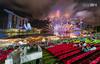 Marina Bay Singapore Countdown 2018- 1st Firework (leslie hui) Tags: marinabay newyear sonya7rii sonyalpha buildings water marinabaysands singapore cityscape city fireworks singaporefinancialdistrict architecture mbs marinabaysingapore