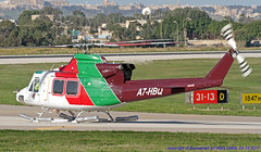 A7-HBQ LMML 23-12-2017 (Burmarrad (Mark) Camenzuli) Tags: airline gulf helicopters aircraft bell 412ep registration a7hbq cn 36412 lmml 23122017
