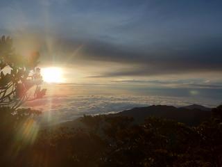 Sunrise near the top of Gunung Tambuyukon