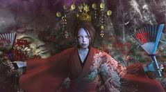 NAMINOKE Japonica 201712 (clau.dagger) Tags: naminoke rlf japonica kimono accessories secondlife japan fashion fantasy egosum aii monso catwa insol anc littlebranch hextraordinary eve poseidonposes