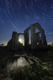 Covehithe church by moonlight
