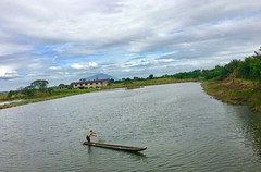 How to cross a river (Lens_sky05) Tags: canoeing canoe clouds sky nature river paddling boat rivercrossing