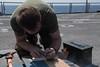 171229-N-OW019-013 (SurfaceWarriors) Tags: usspearlharbor pearlharbor lsd52 amphibiousdocklandingship navy deployment americaamphibiousreadygroup ama arg powerprojection amaarg aarg marine eod explosiveordnancedisposal 15thmeu marineexpeditionaryunit timedfuseburn flightdeck ordnance pliers ignitor indianocean