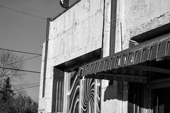 architecturals forms and movements, details, facade, Gas Up services station, West Asheville, North Carolina, Nikon D3300, nikon nikkor 55mm f-3.5, 12.26.17 (steve aimone) Tags: architecture architecturalforms architecturalmovements architecturaldetail facade gasup servicestation westasheville northcarolina nikond3300 nikonnikkor55mmf35 nikonprime primelens blackandwhite monochrome monochromatic peelingpaint urbandecay