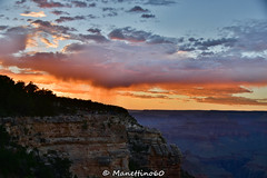 Fire sky over Grand Canyon (MANETTINO60) Tags: arizona grandcanyon canyon tusayan south rim eltovar mather point sunset sunrise ciel sky colours couleurs clouds storm nuages