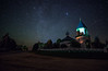 Night Church (free3yourmind) Tags: night church stars starry belarus road trees village orthodox architecture