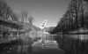 Fort De Roovere Watchtower (Duevel) Tags: pompejustoren fortderoovere halsteren water reflection bw blackwhite trees spiegeling watchtower mosesbridge mozesbrug