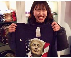 Trump will shoot me (buhrayin) Tags: trump tshirt patriotic korean woman visitor intern parody paraphenalia interview video satire souvenirs