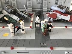 LEGO® Star Wars: Interceptor Starfighter Hangar 2.0 - 07 (jm_aalen) Tags: lego® moc afollu star wars starwars greebles starfighter space spaceship nurbies republic cockpit widget battle gunship interceptor hangar eta2 actis