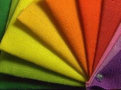 fabric (Elisabeth patchwork) Tags: macromondays redux2017 clothtextile rainbow fabric quilting patchwork 20180101