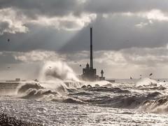 Le Havre (shuttereyelandphoto) Tags: seascape sea lehavre wind wave seaspray