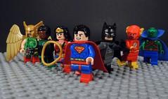 Justice League (-Metarix-) Tags: lego super hero justice league hawkgirl green lantern wonderwoman superman batman flash martian manhunter dc comics comic tv show minifig team cartoon network