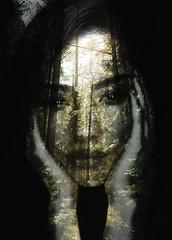 Inner Light (Lightcrafter Artistry) Tags: portrait person girl trees doubleexposure