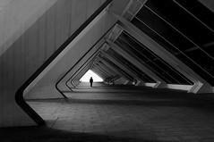 inside (s@brina) Tags: man architecture space angle triangle human monochrome valencia