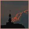 A clocheton dans les nuages (Pi-F) Tags: paris architecture monument nuage lumière rouge clocheton france toit cumulus soir nuit sombre ombre ciel