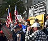 """AnswersSF. org, """"Defend Sanctuary Cities!"""", protest, rally, anti-ICE, counter-protestors, crowd, (David McSpadden) Tags: defend sanctuary cities answerssforg antiice counterprotestors crowd protest rally daca"""