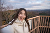 Young woman taking selfie picture on observatory (Apricot Cafe) Tags: img72947 asia asianandindianethnicities canonef1635mmf28liiusm healthylifestyle japan japaneseethnicity autumn autumnleafcolor candid carefree casualclothing charming cheerful chibaprefecture colorimage enjoyment forest happiness hiking landscape leisureactivity lifestyles lookingatcamera mountain observatory onlyjapanese outdoors people photography realpeople relaxation selfie sky smiling sustainablelifestyle toothysmile tourism tourist traveldestinations waistup walking weekendactivities women youngadult ichiharashi chibaken jp