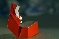 Santa Christmas Box (Robert Harbin) (De Rode Olifant - taking a break) Tags: macromondays robertharbin origami santa xmas christmas marjansmeijsters candlelight paper paperfolding santachristmasbox diagrams rectangle litbycandlelight macro origamisanta santaclaus holidays coth5 papiroflexia