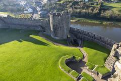 Penbroke Castle Wales (fillbee) Tags: birthplaceofhenryvii mighty fortress castell penfro earldom pembroke 1093 arnulf montgomery williammarshal cleddau estuary norman stone castle great hall