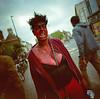 14 ~ zombie girl Bristol (LANCEPHOTO) Tags: costumes halloween zombie horror bristol england uk stokescroft lomography lomo lca120 kodak vericoloriii vps c41 expiredfilm coastalfilmlab 6x6 squareformat mediumformat film4life filmphoto color portrait