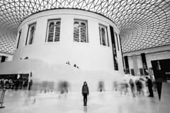 Still (p!o) Tags: emmapooh britishmuseum england uk museum longexposure people greatcourt queenelizabethiigreatcourt blackandwhite bn bw d700 london