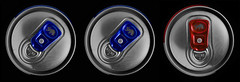 Angry Cows (WibbleFishBanana) Tags: red bull energy drink cow can blue metal ring pull