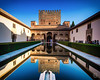 Court of the Myrtles (brianloganphoto) Tags: pool tourists bushes citadel fountian garden water moorish historical spain palace reflection arches espana landcape sky thealhambra people landmark granada islamic andalucía es