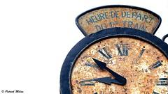 Frozen time (patrick_milan) Tags: clock decay rusty rouille time temps heur train horloge abandon ploudalmézeau