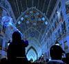 Cielo encendido de azul-Calle Larios-Málaga.(para mi amigo rroel58 ) (lameato feliz) Tags: málaga luces color azul callelariosmálaga gente