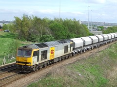 60073 (North East Rail Images) Tags: ews 60073 passing swalwell junction with westbound limestone working from redcar