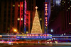 Light trails at Radio City Music Hall (Insite Image) Tags: selctreview thanksgivingday thanksgiving newyork rockefellercenter radiocitymusichall newyorkny manhattan newyorkcity christmastree lighttrail nightphotography neonsign neon cityscape city longexposure