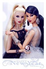 Happy New Year (Michaela Unbehau Photography) Tags: anewyear anewstartandwaytogoiwishyouallasuccessfulfunfilledjoyfulandfortunatehappynewyeardollsgisellediefendorfsistersmogulandglamaddictdressesbonettashopandnovafoo fashion royalty nuface integrity toys michaela unbehau fashiondoll doll dolls toy photography mannequin mode puppe fotografie