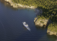 Great Blue Heron (blueheronco) Tags: aerial aerialview greatblueheron tourboat boat blueheroncruises indianheadcove grotto georgianbay brucepeninsula ontario canada niagaraescarpment rockyshoreline