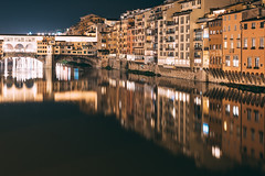 Lights on the river (mougrapher) Tags: ifttt 500px reflections city reflection river light tower architecture cityscape lights bridge building pedestrian long exposure canal florence firenze street footbridge ponte luci exterior architettura arch fiume town square