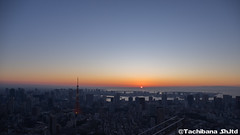 P1014562-HDR (et_dslr_photo) Tags: skydeck sky roppongihills tokyocityview observatory observationdeck view tokyotower sunrise firstsunrise